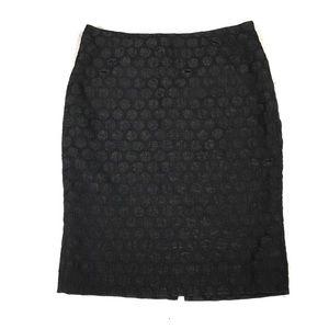 Anthropologie Maeve Circle Textured Pencil Skirt
